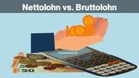 Was ist Nettolohn und Bruttolohn? Unterschied Nettolohn und Bruttolohn