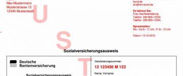 Rentenversicherungsnummer beantragen | Sozialversicherungsnummer