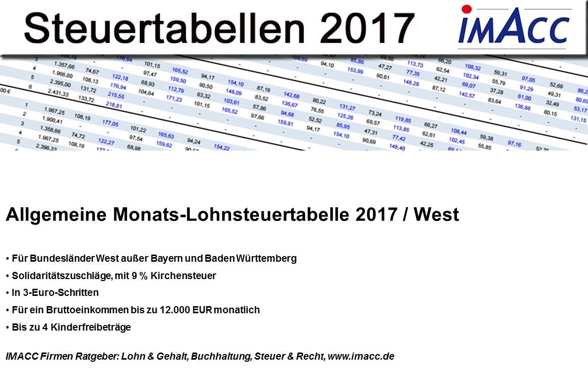 Lohnsteuertabelle 2017