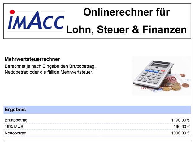 Wie berechne ich die Mehrwertsteuer / Umsatzsteuer. Berechnung MwSt, PDF Ausgabe MwSt Rechner Mehrwertsteuerrechner