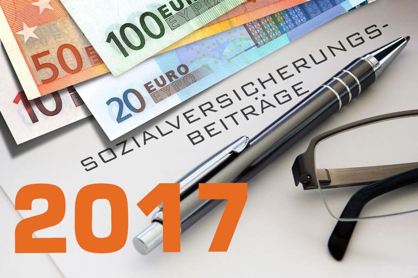 Sozialversicherungsbeiträge 2018 und Grenzwerte 2017, Beitragssätze 2017