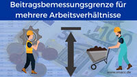Bild von Wie kann man Beitragsbemessungsgrenze für mehrere Arbeitsverhältnisse berechnen, Mehrfachbeschäftigung, mehrere Jobs, zwei Jobs