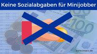 Bild von Keine Sozialabgaben für Minijobber, 450 Euro job